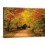 """ジョン・シルベスタープレミアムthick-wrapキャンバス壁アート印刷農村道路というタイトルの秋、チャーチル、Prince Edward島、カナダ 48"""" x 32"""" 1901908_24_48x32_none"""