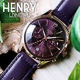 ヘンリーロンドン HENRY LONDON ハムステッド 39mm クロノ ユニセックス 腕時計 HL39-CS-0092 パープル[逆輸入品]