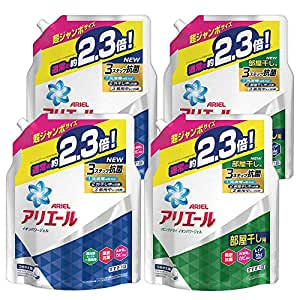 【Amazon.co.jp 限定】【まとめ買い】アリエール 洗濯洗剤 液体 詰め替え 2種セット 超ジャンボ 1.62kg×2個×2種類