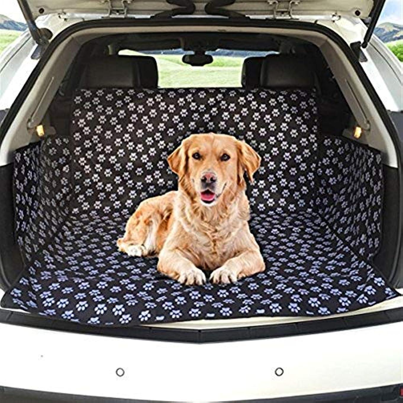 論争よく話される郵便局JSFQ 犬用カーブーツカバーカーブーツライナープロテクター防水ブーツプロテクターマットサイドプロテクション付きトランクドッグカバーほとんどの車、SUV、バン、トラックに適合(かわいい犬の爪)
