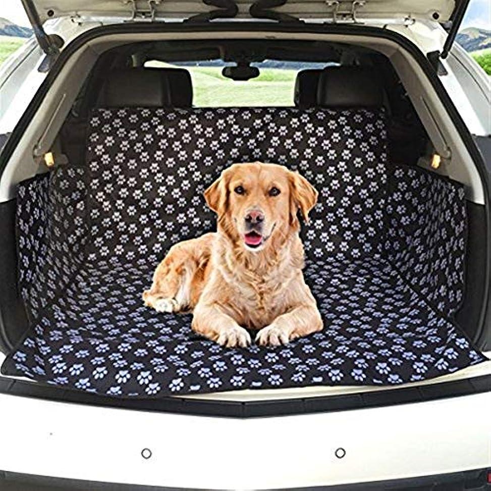 ホームフレア基本的なJSFQ 犬用カーブーツカバーカーブーツライナープロテクター防水ブーツプロテクターマットサイドプロテクション付きトランクドッグカバーほとんどの車、SUV、バン、トラックに適合(かわいい犬の爪)