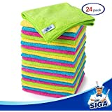 """MR. SIGA Microfiber Cleaning Cloth,Pack of 24,Size:12.6"""" x 12.6"""""""
