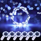 Govee 6 Pack Cool White Fairy String Lights Battery Operated, 3.3ft with 20 LEDs Waterproof Flexible Copper Wire Light for Ch