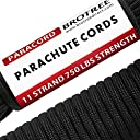 Brotree パラコード (耐荷重340kg) 11芯 5mmx15m 黒