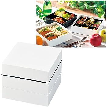 重箱 お重 3段 和 和モダン 運動会 ピクニック おせち 和もよう 18cm オードブル重 三段 ホワイト 72176