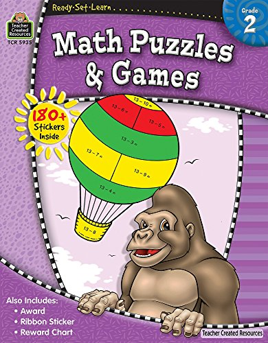 Download Math Puzzles & Games, Grade 2 (Ready Set Learn) 1420659359