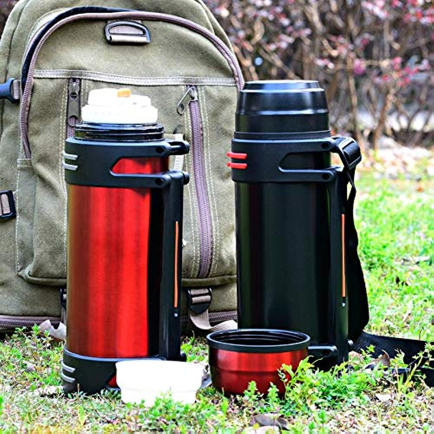 喪慣習骨の折れるXiaoyuna 大容量ステンレス鋼魔法瓶ファッション日常、屋外、自動車用サーモカップポータブル断熱真空カップ3L / 2L (Color : 3L-Black, Size : One size)