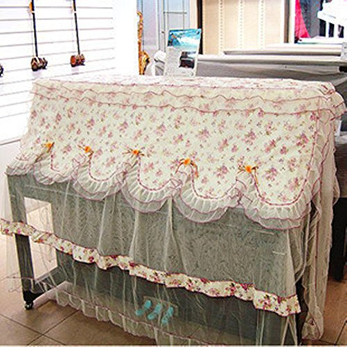 Bulary ピアノカバー 美品 2点セット ピアノ用品 良質 おしゃれ 小花柄 ピアノカバー スツールカバー 各1枚入り ヨーロピアン調
