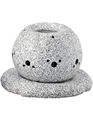 日本セラミックTokoname ware。CHAKORO。Tealeaf Incense Holder。