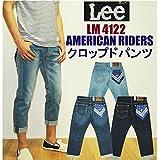 Lee LM4122 AMERICAN RIDERS デニム クロップドパンツ(USED加工) 28 446:中間色USEDブルー