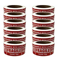 Shop4Mailers Fragile Labels 2 x 3 Rolls of 500 (12 Rolls) [並行輸入品]