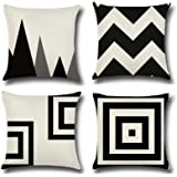 Labelleive 4-Pack Sofa Home Decor Design Throw Pillow Case Cushion Covers Square 45cm*45cm (No Insert)