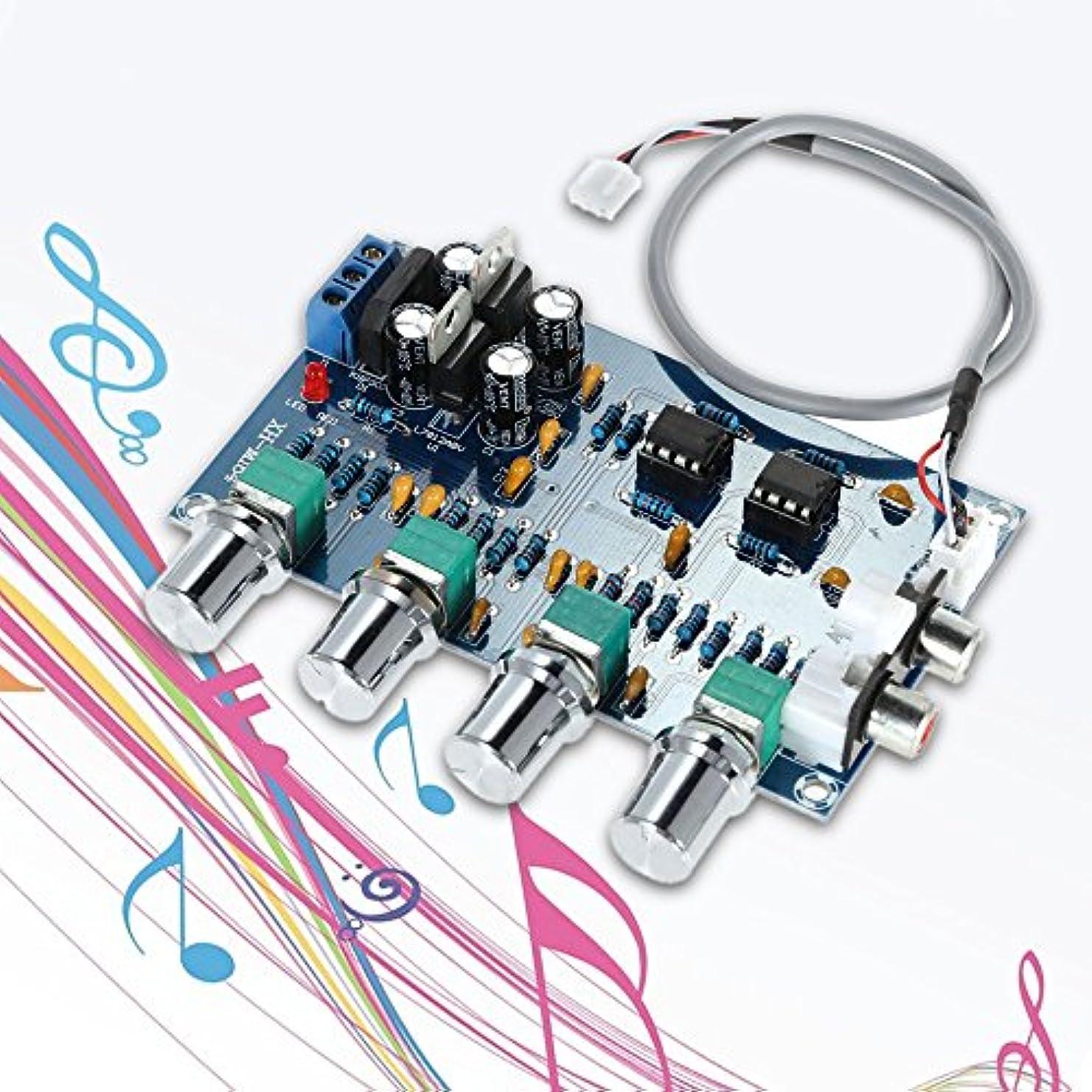 戦争脚本ステップWunes - NE5532オーディオ4つのチャンネルのプリアンプのトーンボード品質ステレオプリアンプアンプボード専門の電話チャネル?アンプ