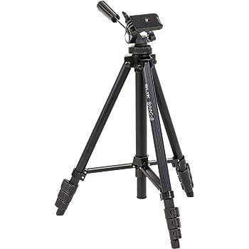 SLIK 三脚 800G-8 4段 レバーロック式 20mmパイプ径 3ウェイ雲台 補強ステー付き ブラック 350362