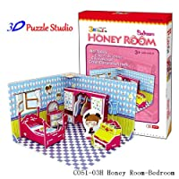 3D Puzzle Honey Room Bedroom. Cute for Kids, fun & educational. by 3D Puzzle Studios