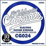 D'Addario ダダリオ エレキギター用バラ弦 フラットワウンド .024 CG024 10本セット 【国内正規品】