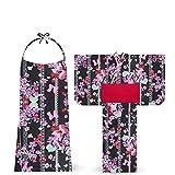 凪 nagi ブランド 子供 2way 浴衣 ドレス 3点セット 6柄 3サイズ (100cm, D-1)