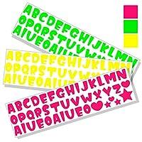 シール デコ【アルファベットシール 3色セット いかほ】 うちわ デコレーション
