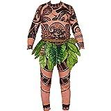Adult Men Kids Moana Maui T Shirt/Pants Halloween Costume Cosplay Family Matching Outfits