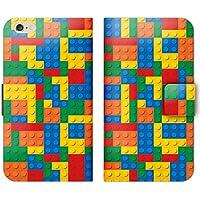 カラフル パステル 手帳型 iPhone X iPhoneX (P005401_05) レゴ LEGO ブロック かわいい スマホケース アイフォン 各社共通