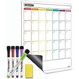 Dry Erase Calendar - Magnetic Calendar for Refrigerator - Vertical Monthly Fridge Calendar Whiteboard with Thickened Magnet I