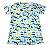 (ノーブランド品)水族館 クジラ イルカ さかな君 メンズTシャツ おもしろTシャツ 半袖 (M) [並行輸入品]