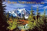 太平洋北西by the Art Wolfe ( ast90658)–空白カード詰め合わせby Leanin 'ツリー–20カードwithフルカラー22設計、Interiors封筒