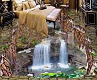 Sproud 3 D の壁 3 D 写真の壁紙 3D フロアタイル滝リビングルーム 3 D 絹の布の床防水 430 Cmx 300 Cm のためのフロアーリングのカスタムの壁紙