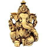 "3.5"" Lord Ganesh / Ganesha Statue Sculpted in Great Detail with Antique Finish ? Ganesh Idol for Car / Home Decor / Mandir /"