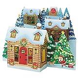 サンリオ クリスマスカード 洋風 ライト&メロディ 斜面にお家3軒  S6340