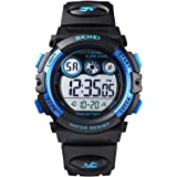 Skmei Boys Girls Sports Watch, Multi Function Digital Kids Watches Waterproof LED Light Wristwatches for Children
