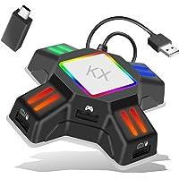 キーボード・マウス接続アダプター ゲームコンバーター ゲーミングコントローラー変換 アダプター コンバータ マウスコンバ…