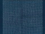 ナスカ 刺し子布 藍染め 9柿の花