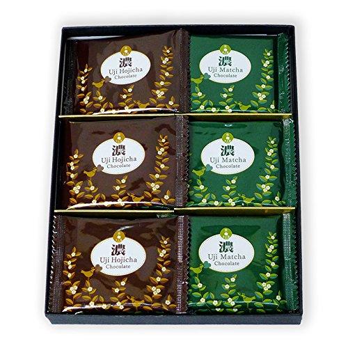 京都宇治茶匠 きよ泉 抹茶スイーツ 宇治のチョコレート「濃」〔抹茶チョコ×9枚・ほうじ茶チョコ×9枚〕