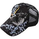 (ラグタイム セレクト) Ragtime Select キャップ 大きいサイズ メンズ 狼 ウルフ 刺繍 和柄 メッシュキャップ かっこいい 絡繰魂 C020909-04