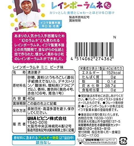 UHA味覚糖 レインボーラムネ ミニ 40g