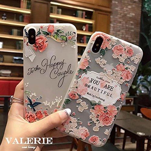 薔薇柄ケース iPhoneケース iPhoneX iPhon...