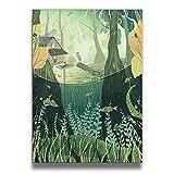 夢の森 壁飾り 壁掛け絵 塗り絵 キャンバス絵画 インテリア