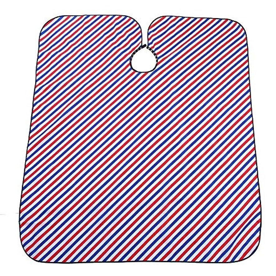 ソケットファイナンス素晴らしき防水サロン散髪ケープ(ピンストライプ)