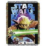"Best 毛布スターウォーズ毛布 - 1ピース48"" x 60""ブラックStar Warsテーマスロー毛布、ヨーダDarth Vader c-3poムービーCharacters Space Galaxy Review"
