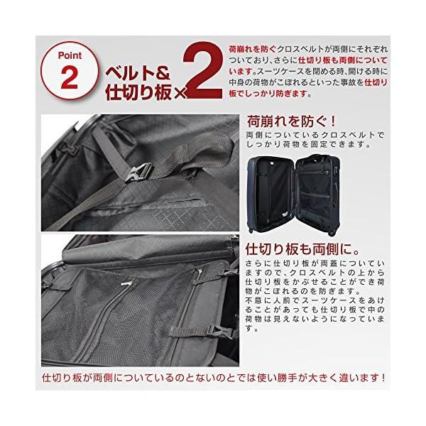 TSAロック搭載 スーツケース キャリーバッグ...の紹介画像7