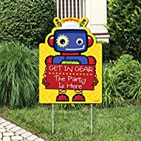 Robots - Party Decorations - Birthday Party or Baby Shower Welcome Yard Sign