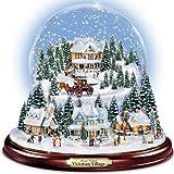 Thomas Kinkade Victorian村Illuminated Musical Snow Globe by the Bradford Exchange