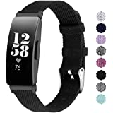 NANW Compatible with Fitbit Inspire HR/Inspire Bands Large Small, Woven Fabric Accessories Strap Wristband Women Men for Insp