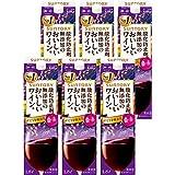 【国産ワイン売上NO.1】 サントリー 酸化防止剤無添加のおいしいワイン。 濃い赤 [ 赤ワイン 1800mlx6本 ]