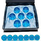 Angelaicos Unisex Stars Acrylic Transparent Play Balls 7pcs Set 4.3cm (Blue)