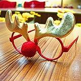 レイバン ラウンド Zehuiパーティーアクセサリープレゼントクリスマスデコレーション子供&大人メガネフレーム mhy-0829-Zjj1075
