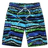 AOIF 水着 メンズ ハワイ風 サーフパンツ ファッション イケメン 海水パンツ 海パン ゴムウエスト ハーフパンツ 2054