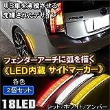 LEDサイドマーカー LEDフェンダーマーカー US仕様風 汎用 ホワイト