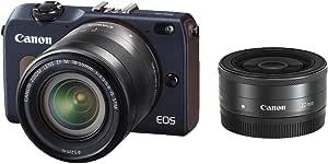 Canon ミラーレス一眼カメラ EOS M2 ダブルレンズキット (ベイブルー) EF-M18-55mm F3.5-5.6 IS STM EF-M22mm F2 STM付属 EOSM2BL-WLK